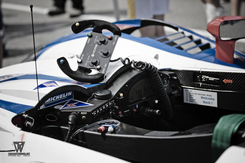 The cockpit of a LMP2